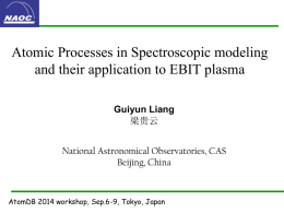 Atomic Process in Spectroscopic modeling and their