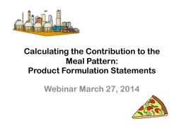 Product Formulation Statements - UC Davis Center for Nutrition in