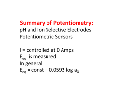 Chem 5336_Potentiometry