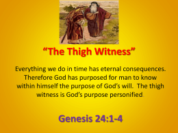 The Thigh Witness - Christ Gospel Church