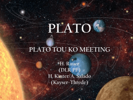 Status of the PLATO project and goals of the next Study phases
