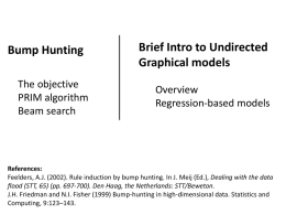 Lecture 9: Bump Hunting