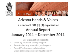 Arizona Hands & Voices 2011 Annual Report