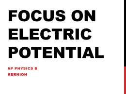 Focus on Electric Potential