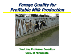 Forage in Lactation Diets, PowerPoint Presentation