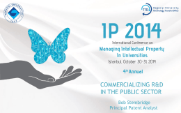 Patent landscape - IP Conference 2014