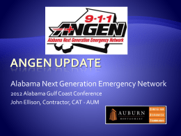 ANGEN 101 - Monday Oct 15 - 2012 Gulf Coast Conference