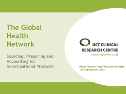 IP (Investigational Product) - Global Health Trials