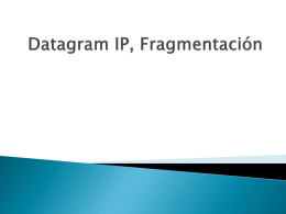 Fragmentación IP