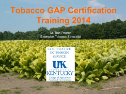 GAP 2014 online training - UK College of Agriculture