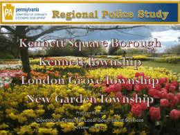 PowerPoint - Borough of Kennett Square