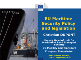 EU Maritime Security legislation