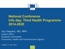 General Information on the EU Health Programme