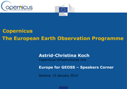 Copernicus - Group on Earth Observations