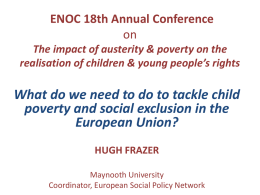 tackle child poverty and social exclusion in the European Union