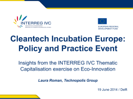 Laura Roman - Cleantech Incubation Europe