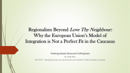 Why the European Union`s Model of Integration is Not a Perfect