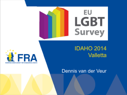 EU LGBT Survey Idaho 2014 - Valletta