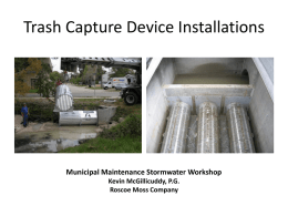 Trash Capture Devices (Powerpoint)
