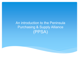 PPSA Introduction