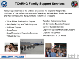 Yellow Ribbon Program - Texas Military Forces Family Support