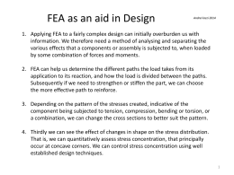 FEA aid to design