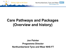 Jon Painter – Northumberland Tyne and Wear NHS FT