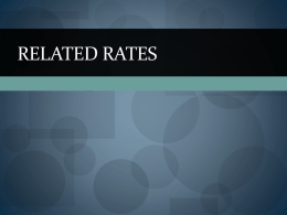 Related rates - Fay`s Mathematics