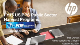 FY15 US PPS Public Sector Harvest Programs