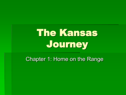 Kansas Journey PPT Ch. 1