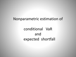 Nonparametric estimation of conditional VaR and expected shortfall