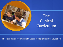 The Clinical Curriculum
