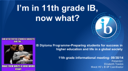 IB DP 11th grade informational meeting powerpoint