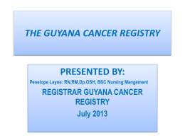 Cancer Registry Suriname