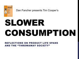 tedtalk slow consumption (Dan F)