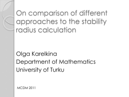 On comparison of different approaches to the stability radius