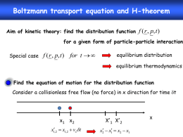 Boltzmann transport equation and H