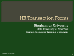 HR Transaction Forms