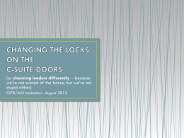 Powerpoint - changing the locks - 24aug13