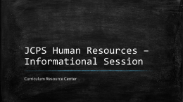 JCPS Human Resources – Student Talk @ CRC