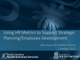Using HR Metrics to Support Strategic Planning and Employee