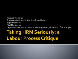 The Trouble with HRM