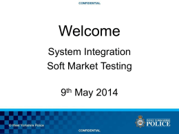 System Integration Soft Market Test