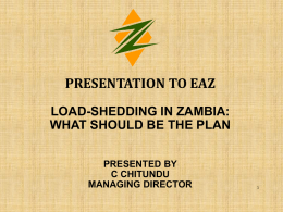 ZESCO-Loadshedding Presentation final