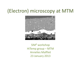 (Electron) microscopy at MTM