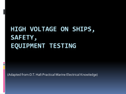 High Voltage on Ships,Safety,Equipment Testing