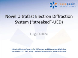 Ultrafast Electron Sources for Diffraction and Microscopy Workshop