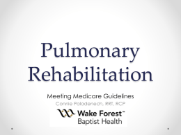 Connie - North Carolina Cardiopulmonary Rehabilitation Association