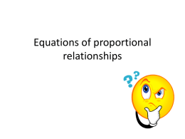 Representing proportional relationships with equations