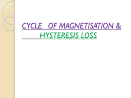CYCLE OF MAGNETISATION